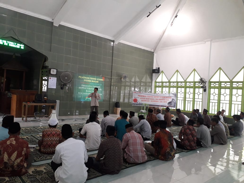 Training Sound Sytem Masjid di Salomekko Bone
